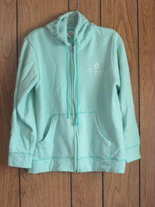 "Womens Hooded Front Zip Up Sweatshirt Hoodie- ""Mirage"" Las Vegas - Size Small"