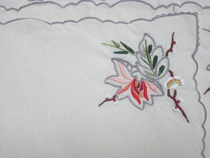 Vintage Antique Cloth Linen Place Mats Accessory
