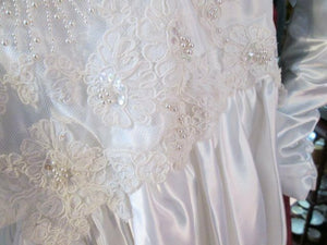 Wedding Dress Beaded Size S (4-6) White Long Gorgeous! Low Back Beaded High End