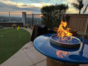 Wine Barrel Fire Pit Table / Crystal Lake