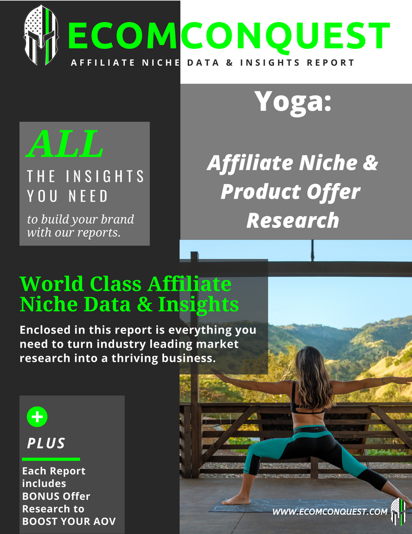 Yoga Market: Affiliate Niche Product Offer Data & Insights Research Report (ANPO)
