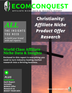 Christianity: Affiliate Niche Product Offer Data & Insights Research Report (ANPO)