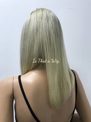 Ash Blond Full Lace Wig