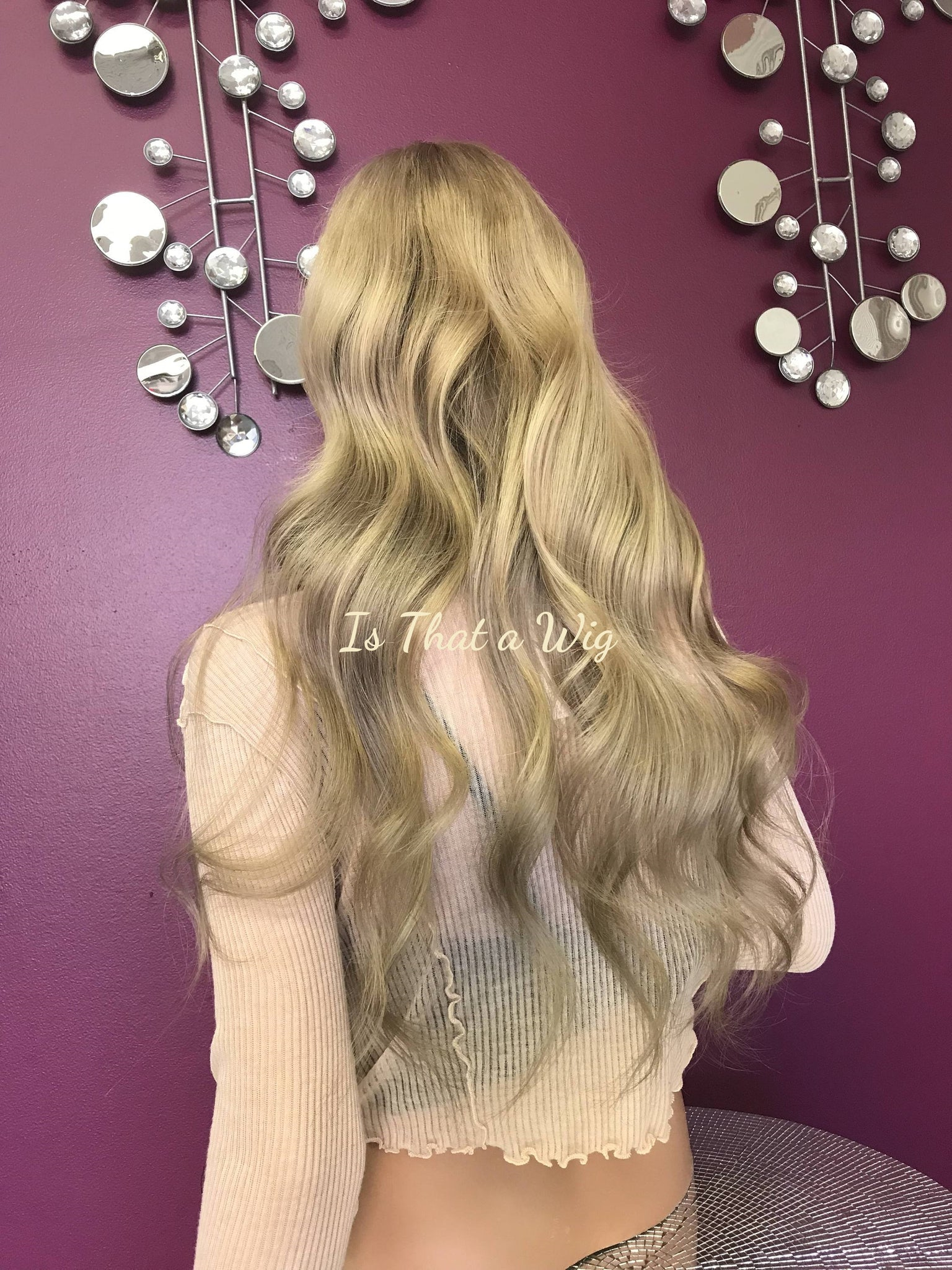 Blond Balayage Full Lace Wig -Ebony