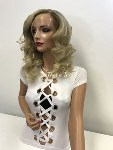 Blond Rooted Full Lace Wig - Claudia