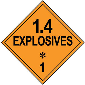 class 1 4 explosive hazmat placard decal or magnetic sign placard