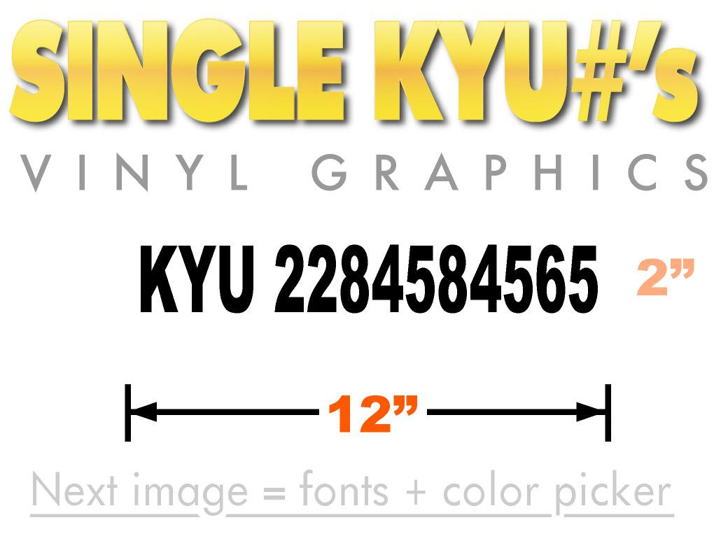 KYU number sticker for Kentucky Weight Tax