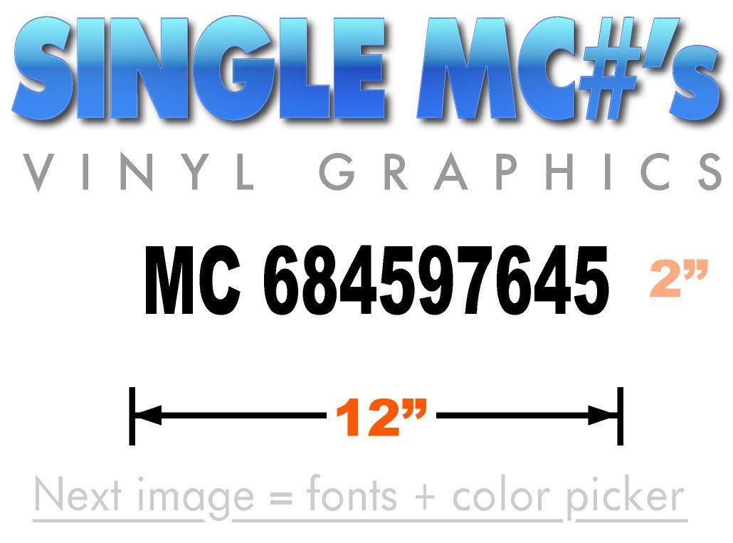 motor carrier sticker for MC number requlation