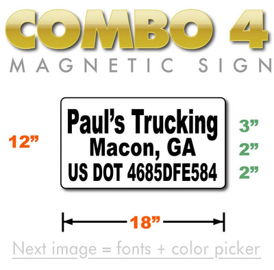 small usdot magnets for trucks and personal vehicles