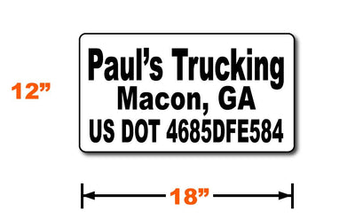 18x12 us dot magnet with lettering height