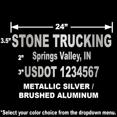 "24""x12"" USDOT Number Sticker"
