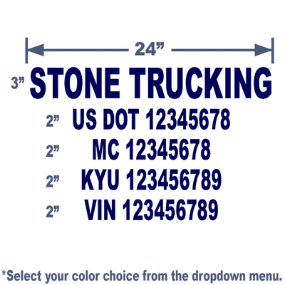 navy usdot number sticker for trucks to meet regulations