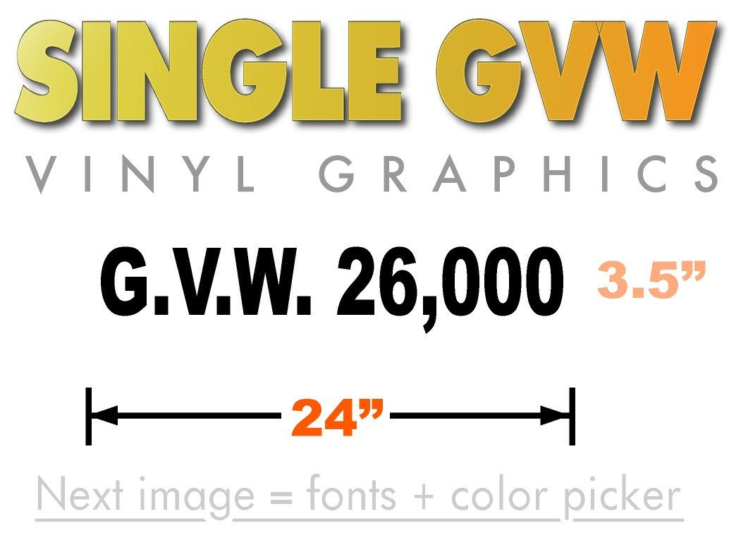Gross vehicle weight adhesive vinyl graphic