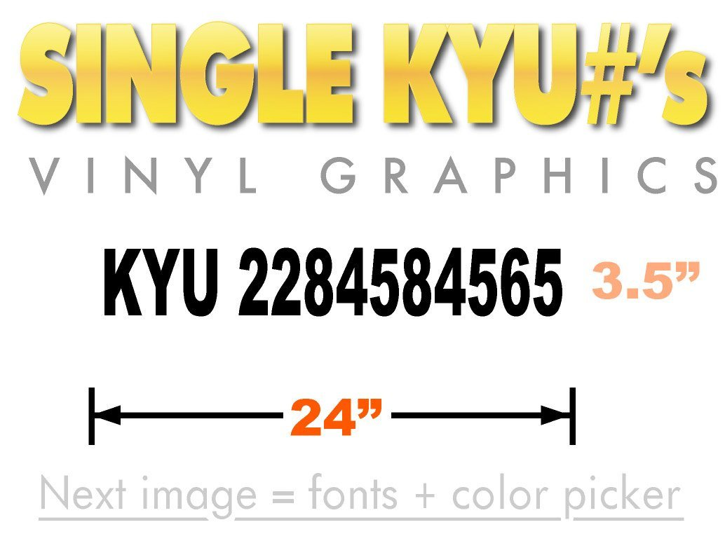 KYU number decal for Kentucky Weight Tax