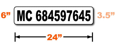 DOT compliant MC number magnetic sign