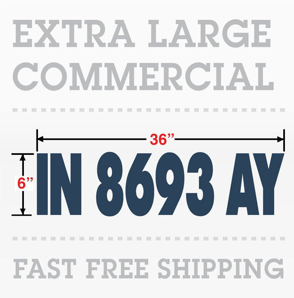 Commercial Boat Number Registration Hull ID number Decal 4