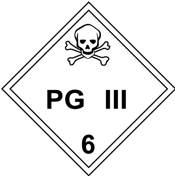 Class 6 Poisonous Inhalation Hazard Placard Decal or Magnetic Sign Placard