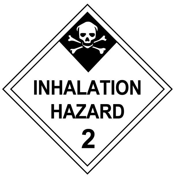 Class 2 Inhalation Hazard HAZMAT Placard Decal or Magnetic Sign Placard