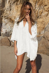 Santa Monica Swim Kaftan Cover Up Tunic in White