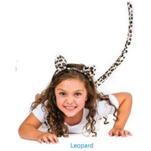 Leopard Head & Tail Set Child