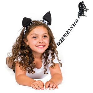 Zebra Head & Tail Set Child
