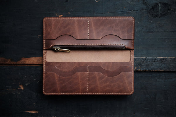 THE LONG WALLET - RUGGED TAN
