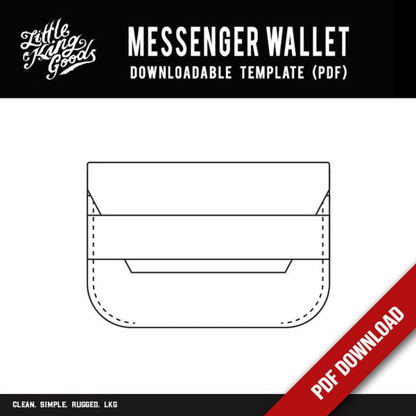 LKG - Messenger Wallet Template (Downloadable PDF)