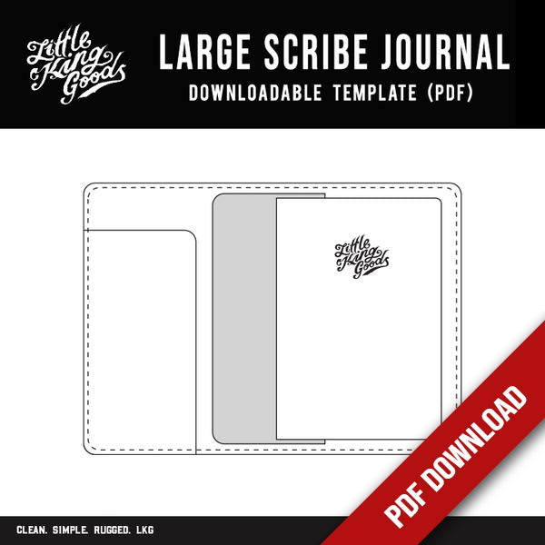 Large Scribe Journal Template (Downloadable PDF)