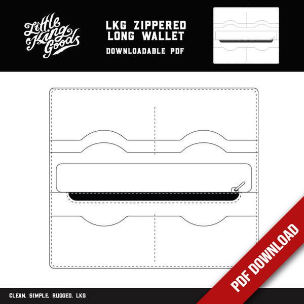 LKG Zippered Long Wallet Template (Downloadable PDF)