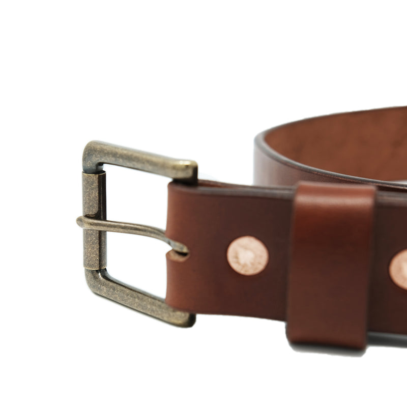 LKG Belt - Medium Brown English Bridle