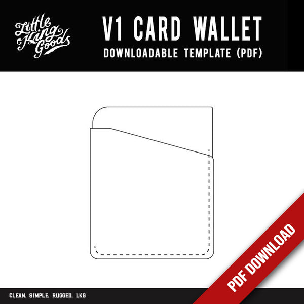 LKG - V1 Card Wallet Template (Downloadable PDF)