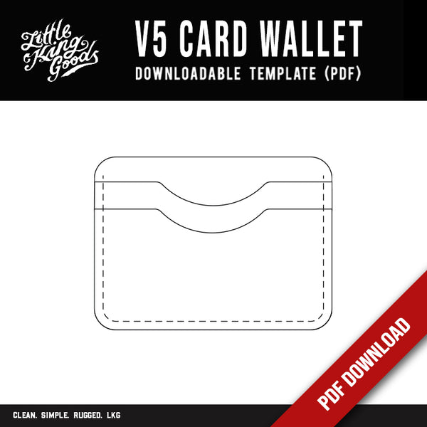 LKG - V5 Card Wallet Template (Downloadable PDF)