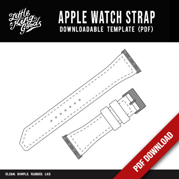 Apple Watch Strap (Downloadable PDF)