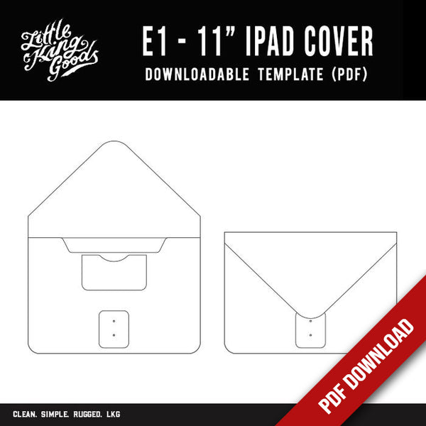 "LKG -11"" iPad Cover Template (Downloadable PDF)"