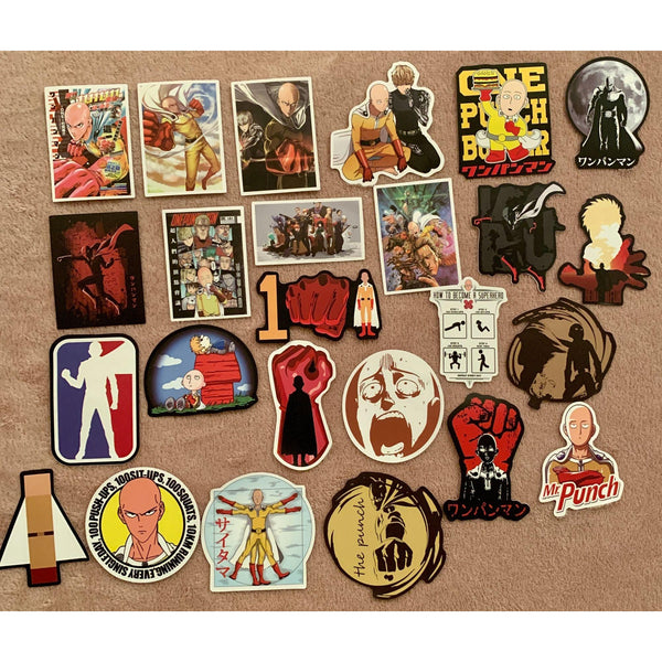 One Punch Man Japan Anime Stickers - Tokyo Retro Gaming