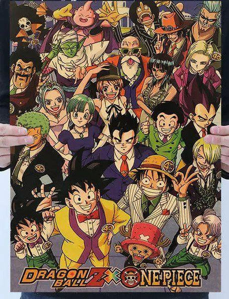 Dragon Ball Z x One Piece Poster - Tokyo Retro Gaming