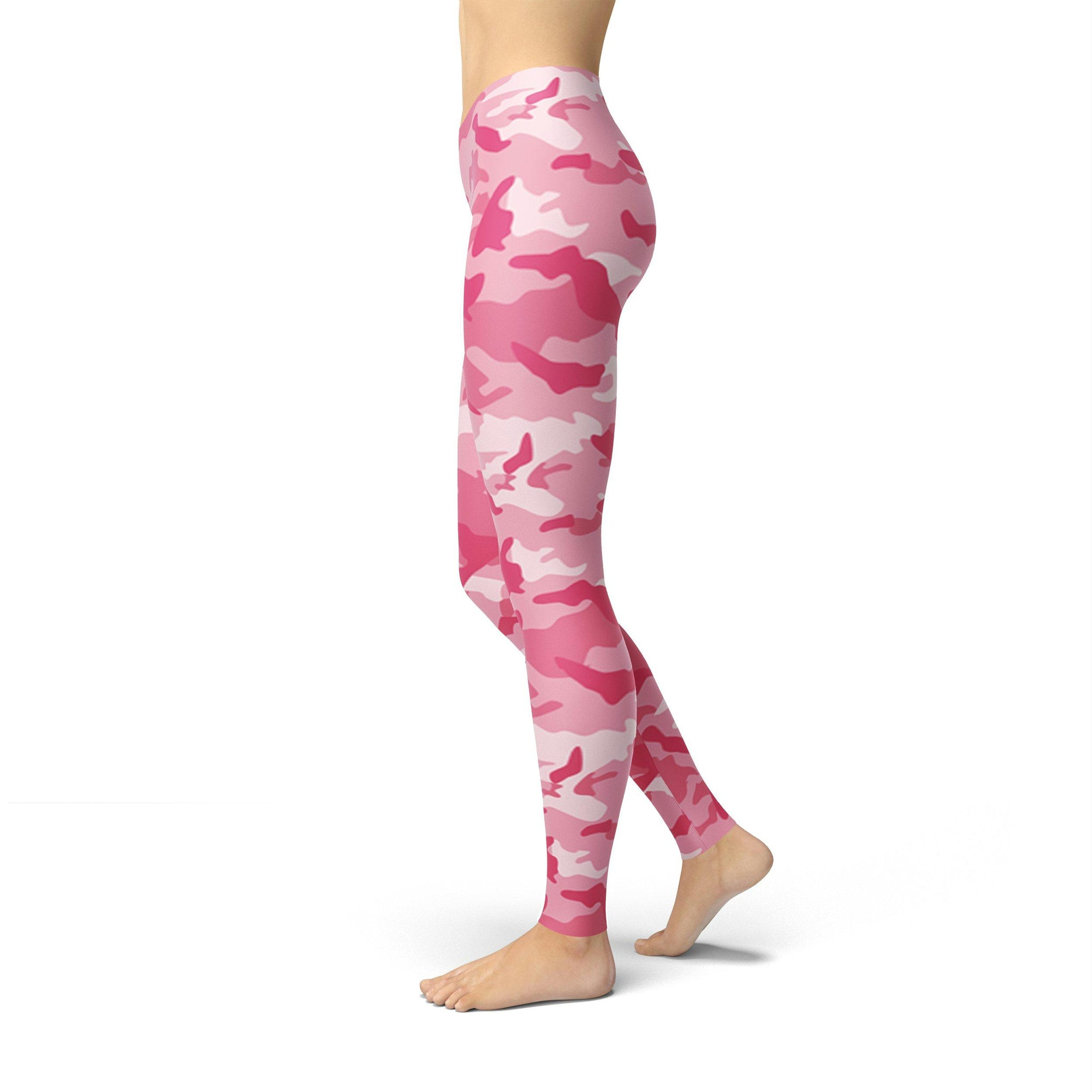 Gentle High-Waist Bubblegum Camouflage Legging