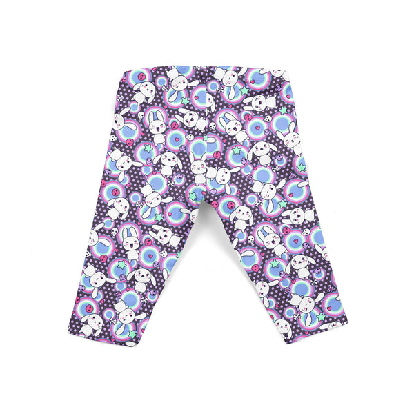 Grape Bunny Frenzy Baby Legging