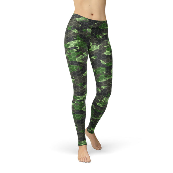 Gentle High-Waist Infantry Rush Camouflage Legging