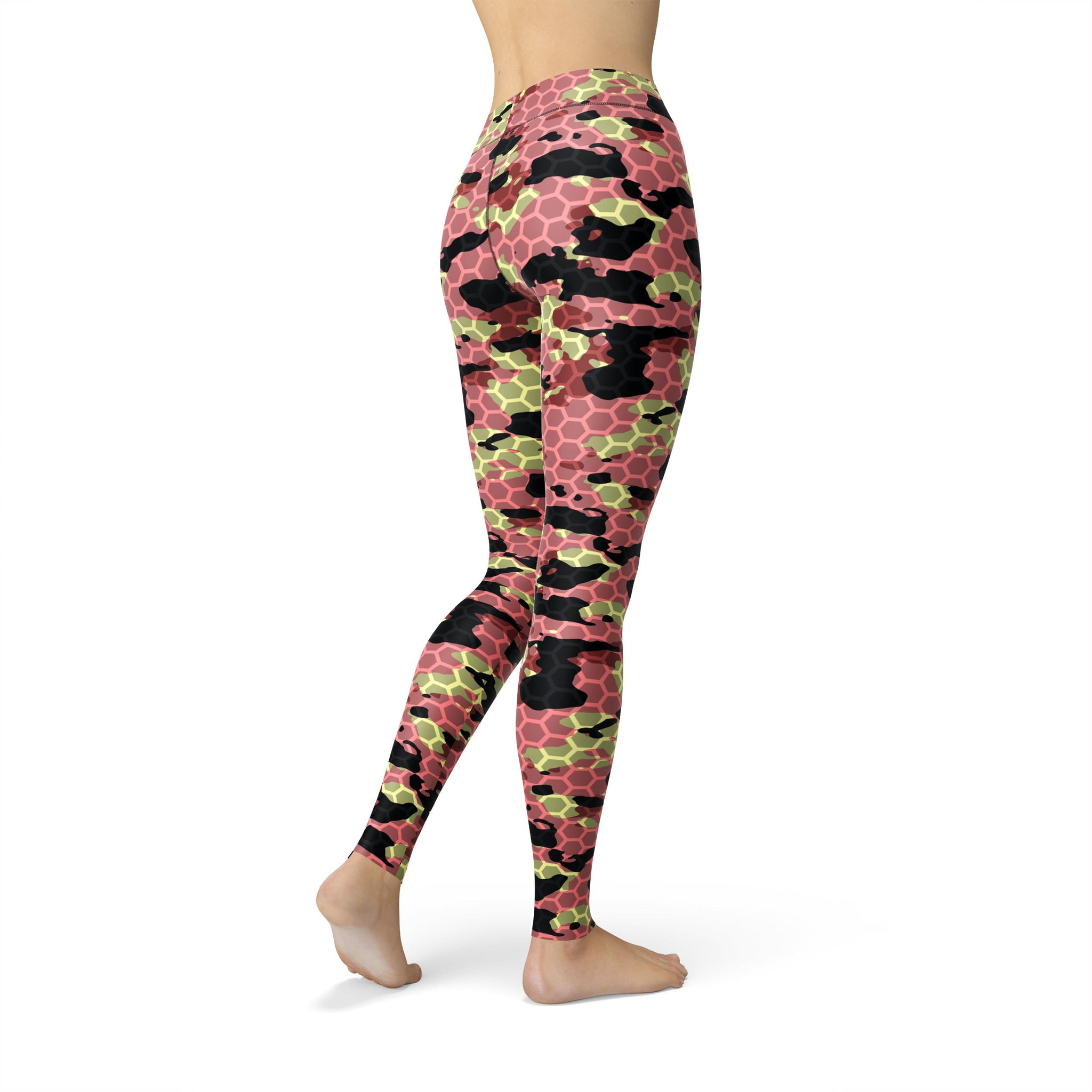 Gentle High-Waist Watermelon Rush Camouflage Legging