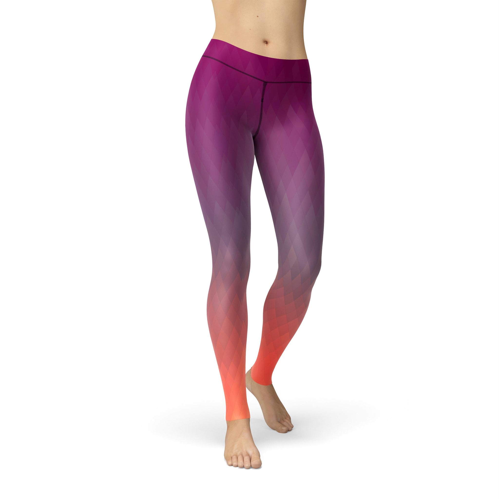 Gentle High-Waist Jewel Fusion Purple Legging