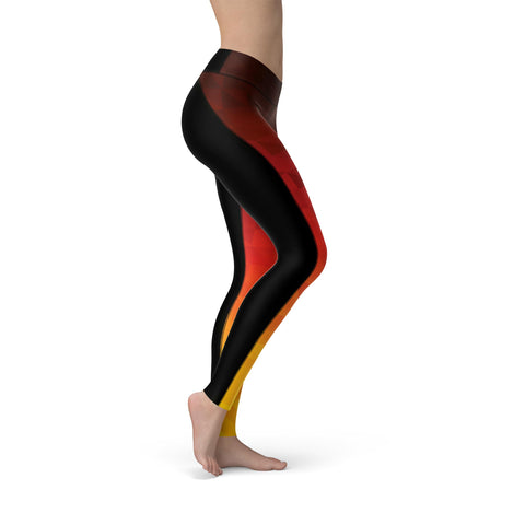High-Waist Prism Fusion Lava Yoga Pants