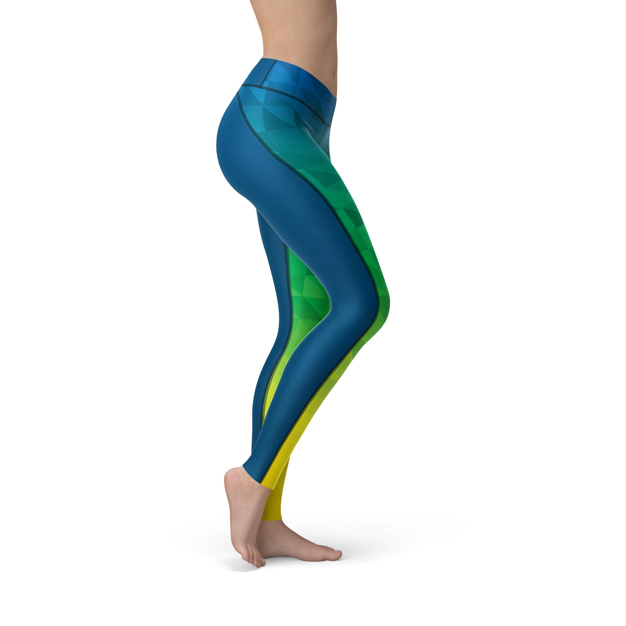 High-Waist Prism Fusion Isle Yoga Pants