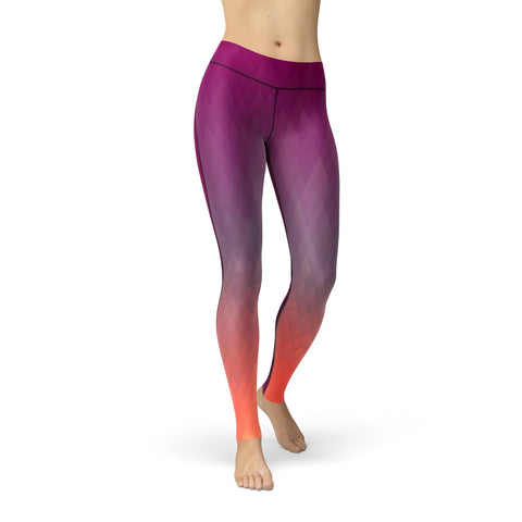 High-Waist Jewel Fusion Purple Yoga Pants
