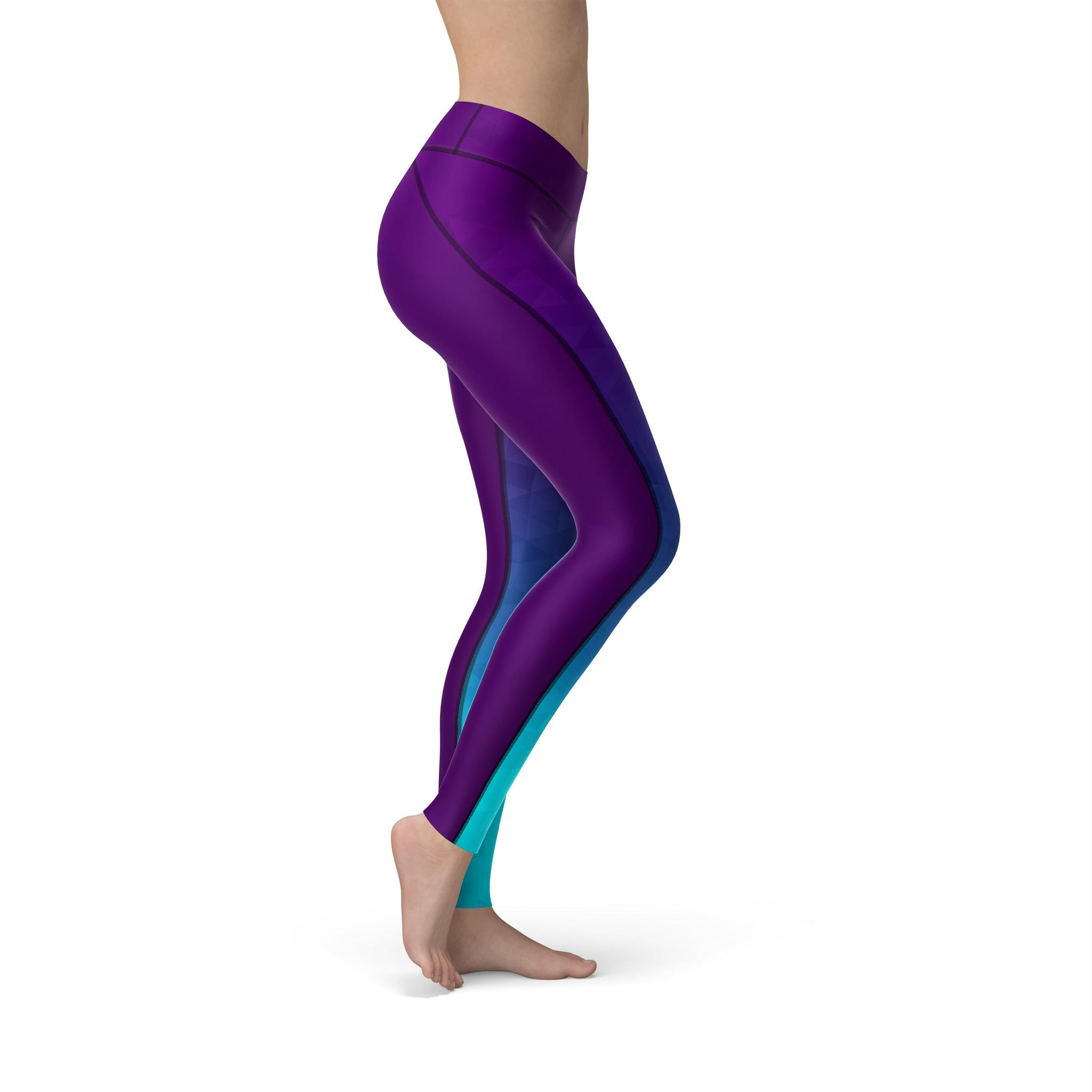 High-Waist Prism Fusion Sea Yoga Pants