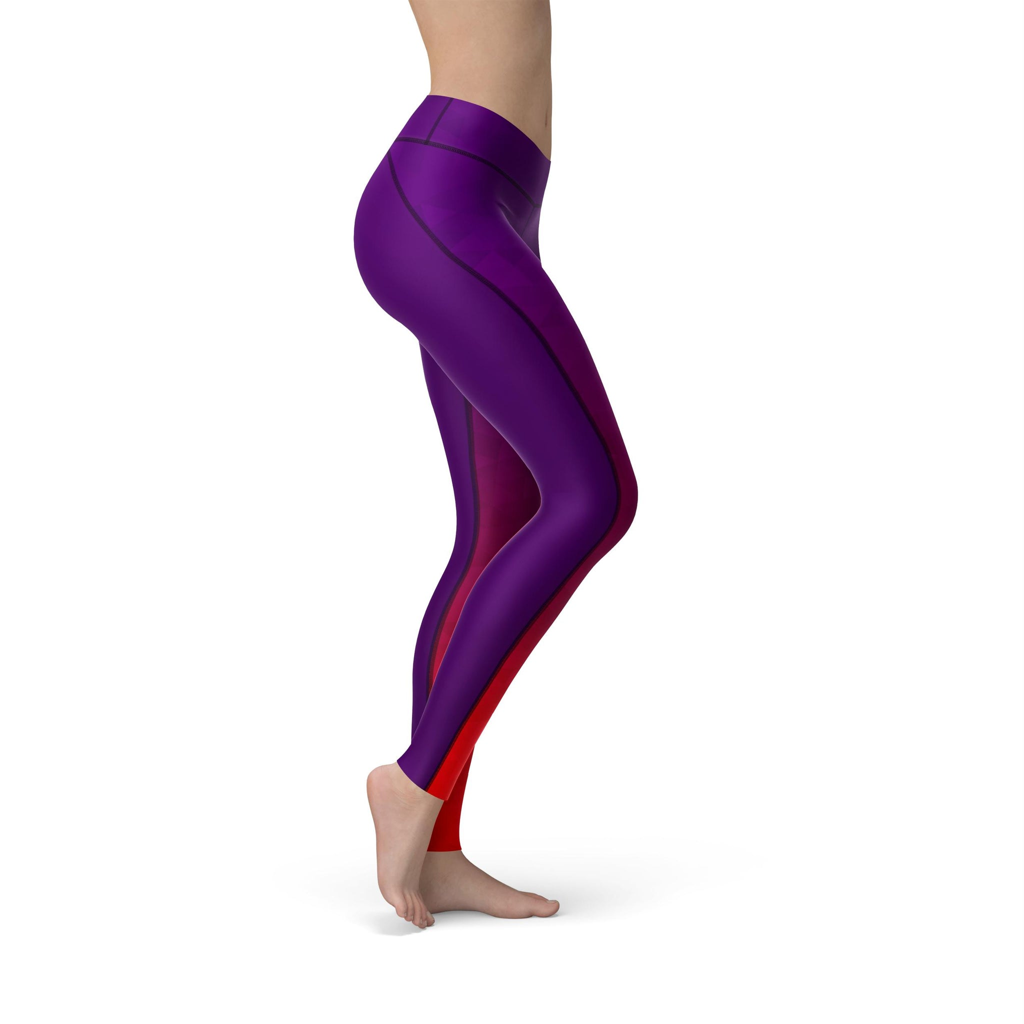 High-Waist Prism Fusion Purple Yoga Pants