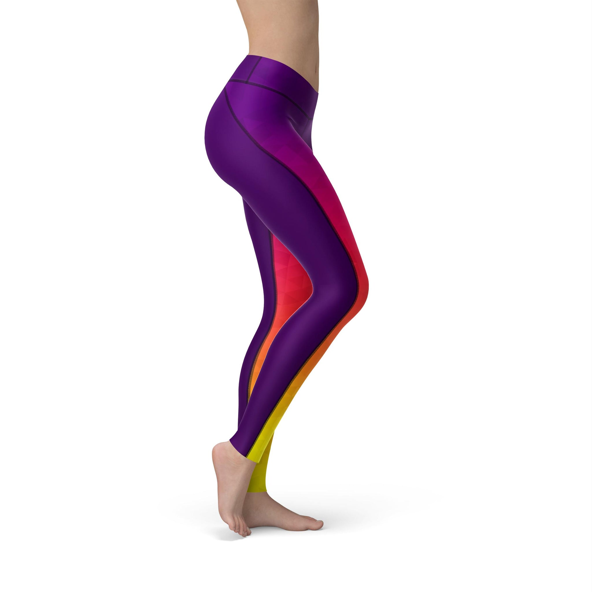 High-Waist Prism Fusion Sun Yoga Pants
