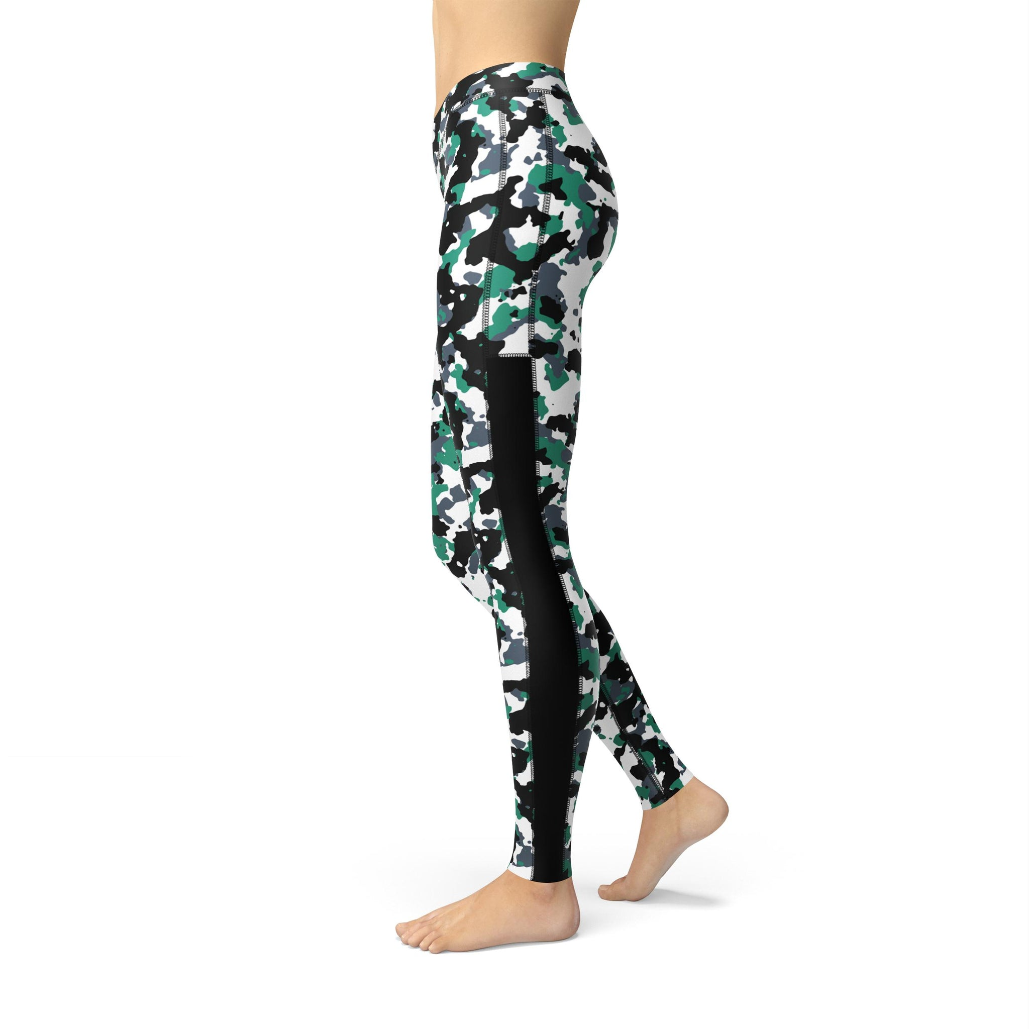 Power Mesh Pastel Green Camouflage Legging