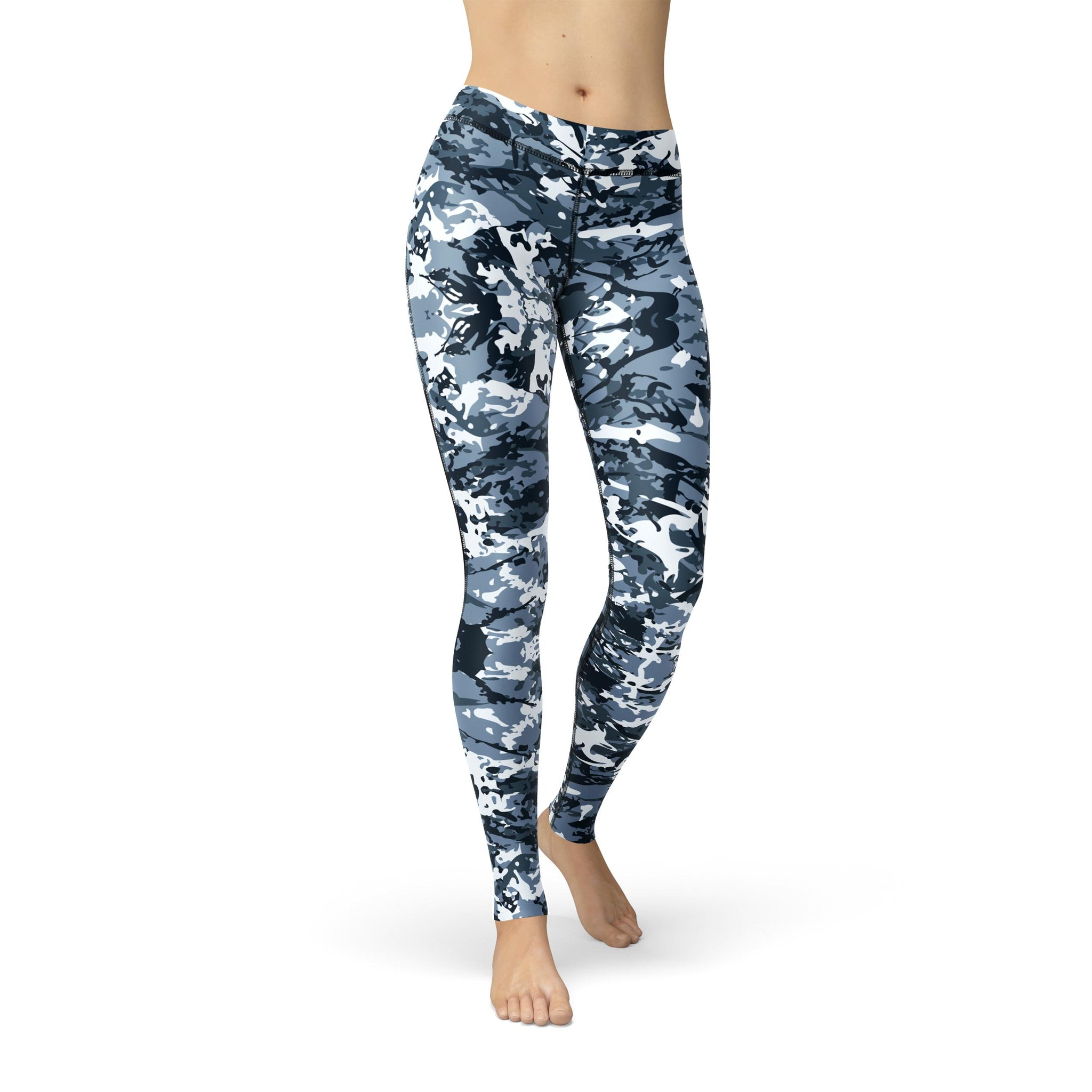 Power Mesh Aegean Camouflage Legging