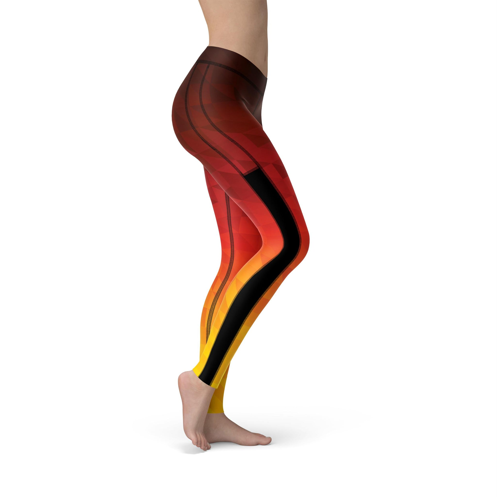 Power Mesh Prism Fusion Lava Legging
